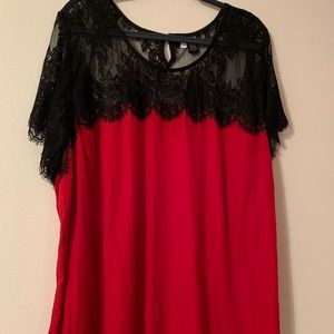 Torrid, Plus Size red blouse, size 4
